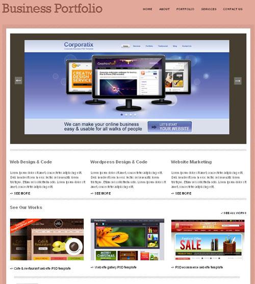 Business Portfolio CSS/HTML preview