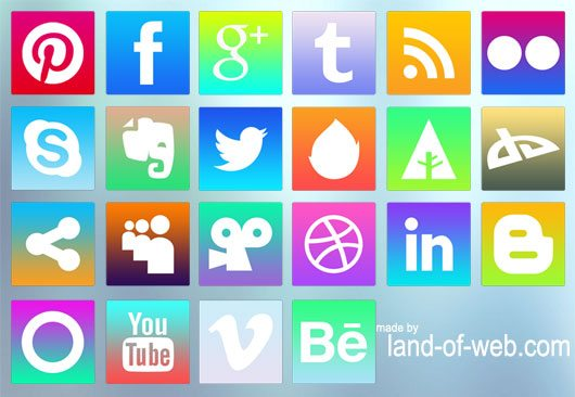 Freebie: iOS7-inspired Social Media Icons