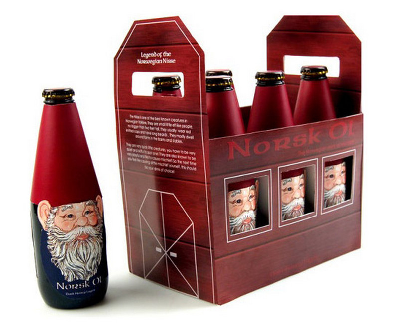 Nork Oil is a fantastic example of Christmas packaging
